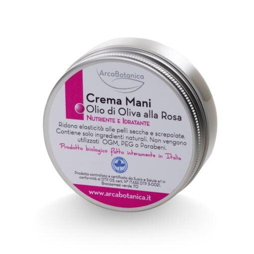 crema mani olio di oliva e rosa