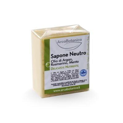 sapone neutro olio di argan rosmarino menta